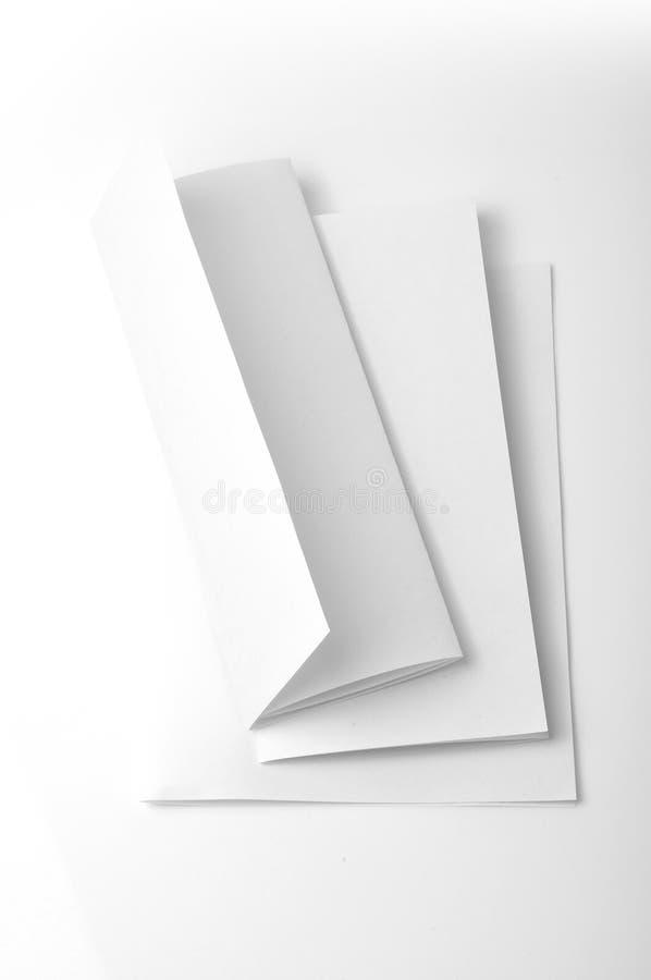 Folleto en blanco fotografía de archivo libre de regalías