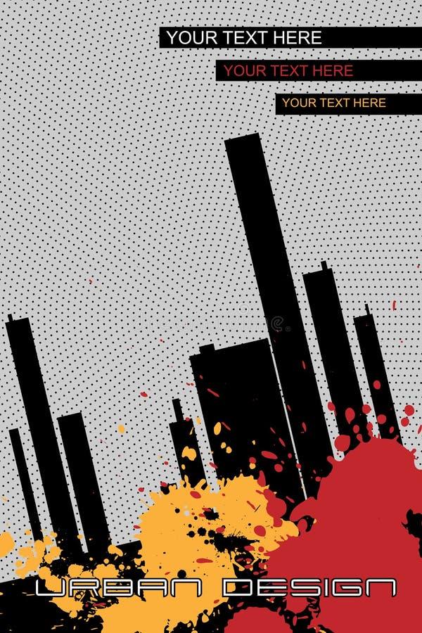 Folleto-fondo urbano del diseño - vector ilustración del vector