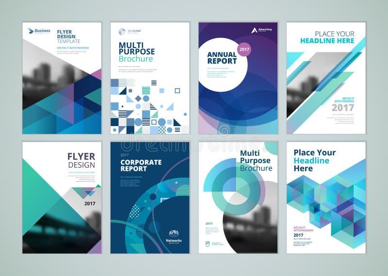 Folleto, informe anual, plantillas del diseño del aviador de tamaño A4 libre illustration