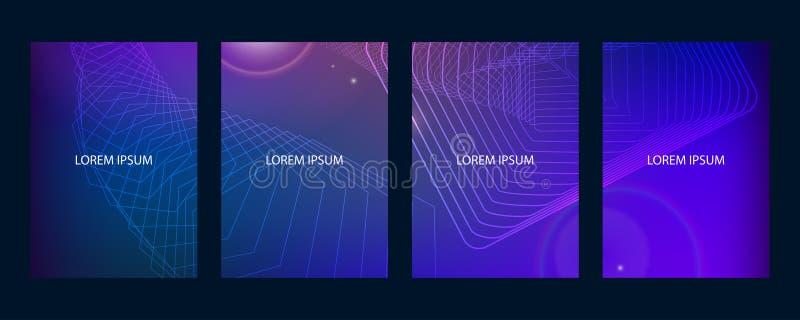 Folleto moderno abstracto, informe anual, plantillas del diseño, diseño futuro de la plantilla del cartel libre illustration