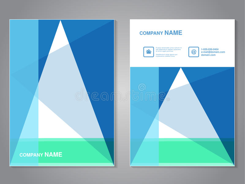 Folleto moderno con diseño del triángulo, aviador abstracto Plantilla de la disposición Relación de aspecto para el tamaño A4 Car libre illustration