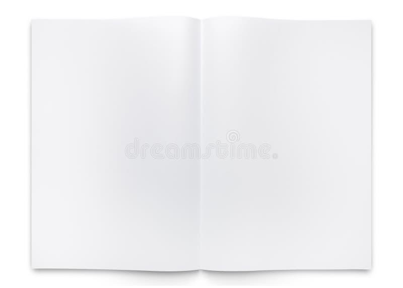 Folleto o libro de papel del doblez del espacio en blanco dos fotos de archivo