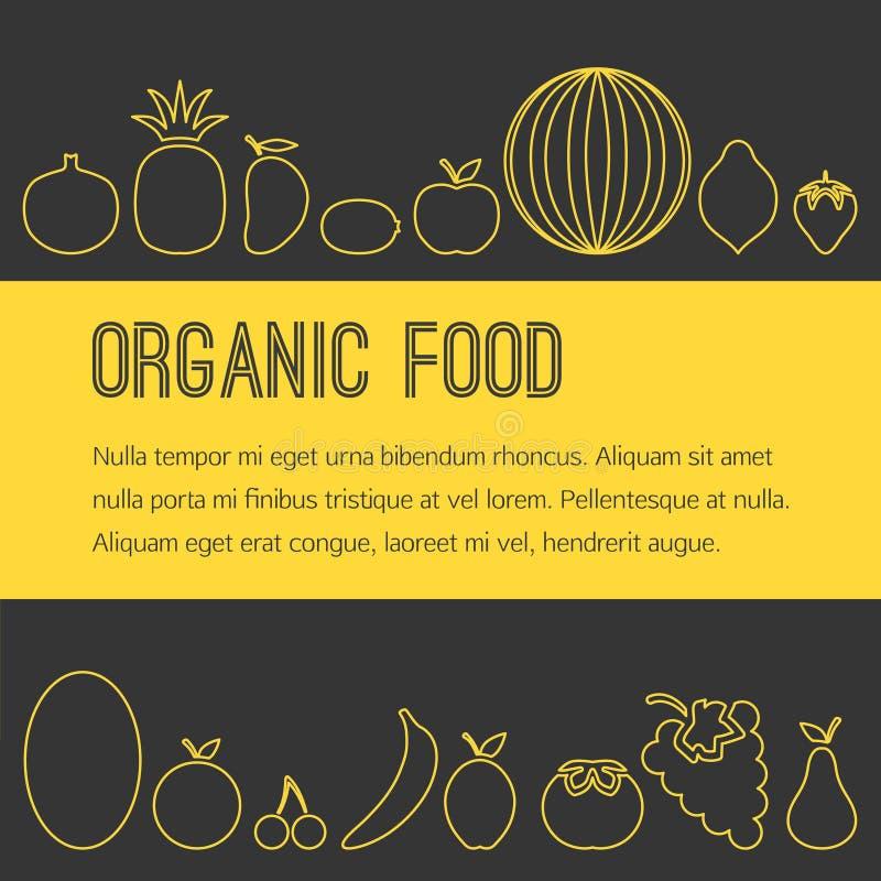 Folleto orgánico de la fruta libre illustration