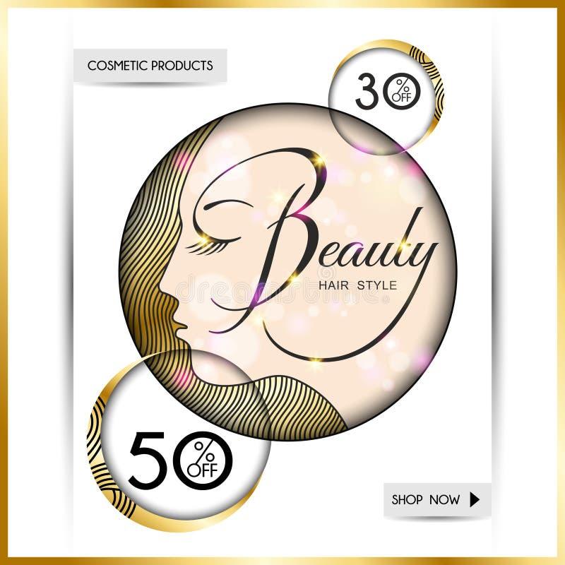 Folleto-plantilla del negocio para los salones de belleza y hairdressing-10 ilustración del vector
