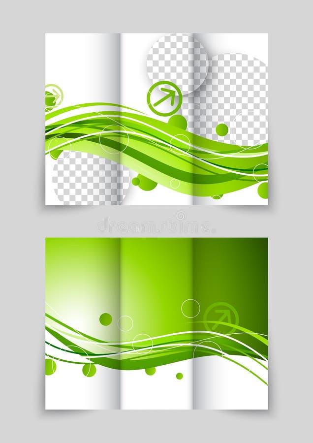 Folleto triple de la onda verde libre illustration
