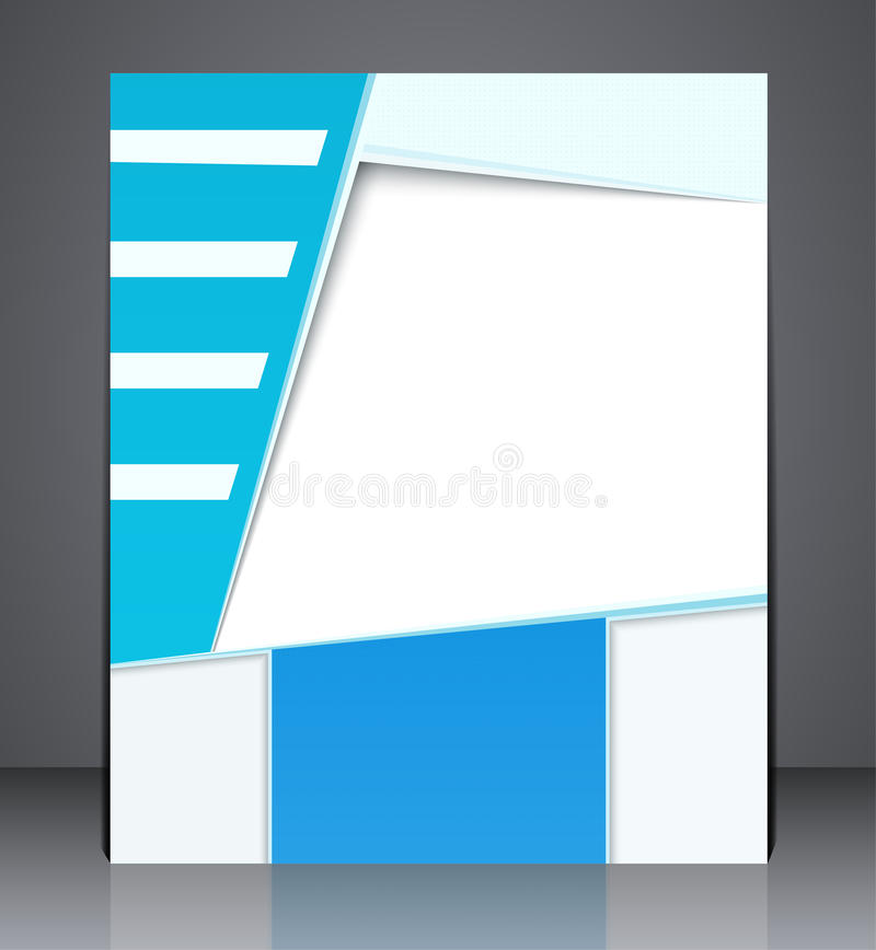Folletos o cartel del negocio de la disposición del vector stock de ilustración
