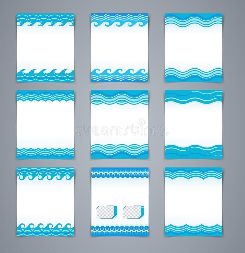 Folletos o cartel ondulados determinados, portada de revista de la disposición del vector ilustración del vector
