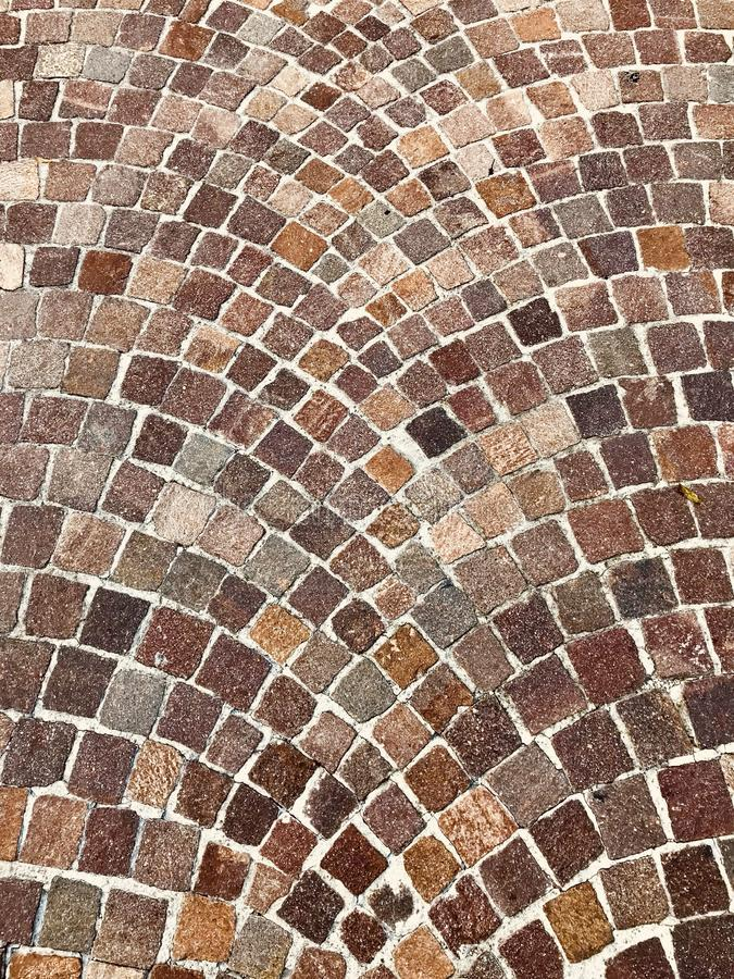 Follow the brown Brick Road Background royalty free stock photography