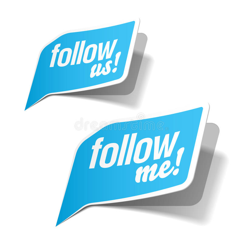 Free Follow Me And Follow Us Bubbles Royalty Free Stock Photos - 19657558