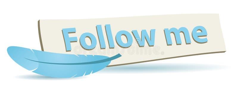 Follow me board vector illustration