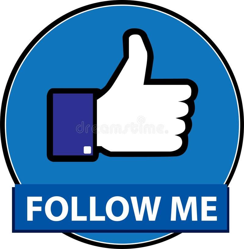 Free Follow Me Facebook Button Vector Stock Photos - 121519453