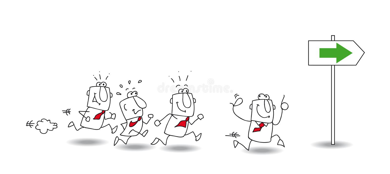 Follow me vector illustration