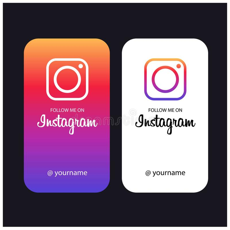 Free Follow Me On Instagram Creative Cards Stock Image - 120542281