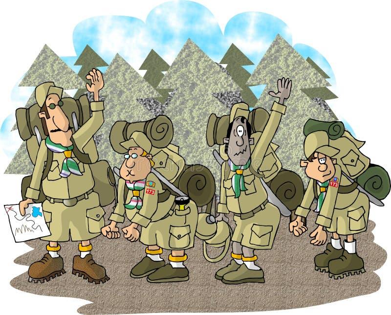 Download Follow-mejungen stock abbildung. Illustration von lustig - 31368