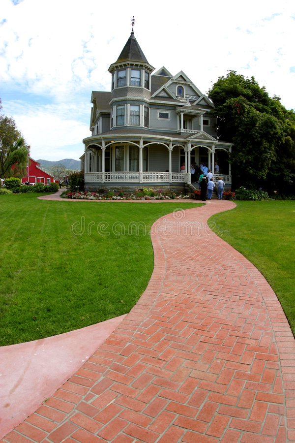 Download Follow the Red-Brick Road stock photo. Image of home, road - 115046