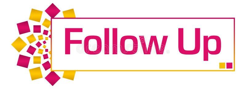 Follow Up Pink Gold Circular Bar vector illustration