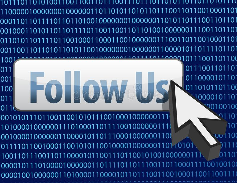 Download Follow Us Binary Design And Cursor Stock Images - Image: 26957064