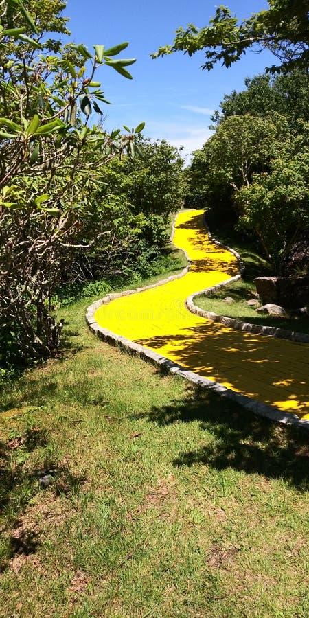 Follow the yellow brick road stock photography