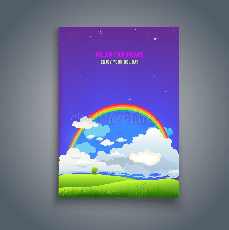 Follow your dreams template vector illustration