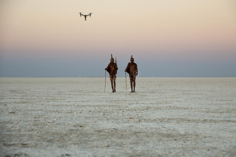 Followed by a drone royalty free stock image