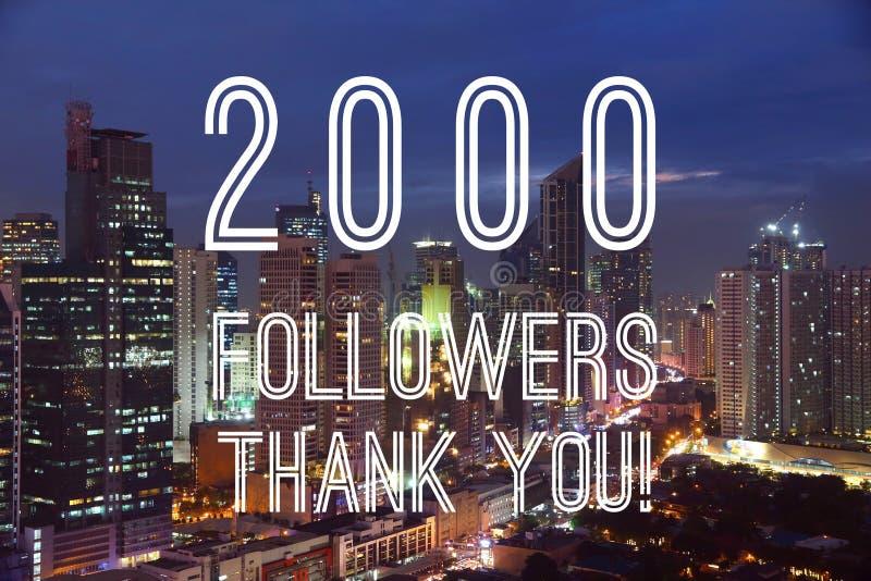 2000 followers stock photography
