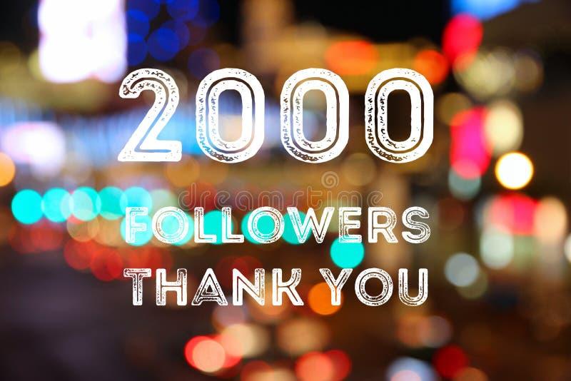 2000 followers royalty free stock image