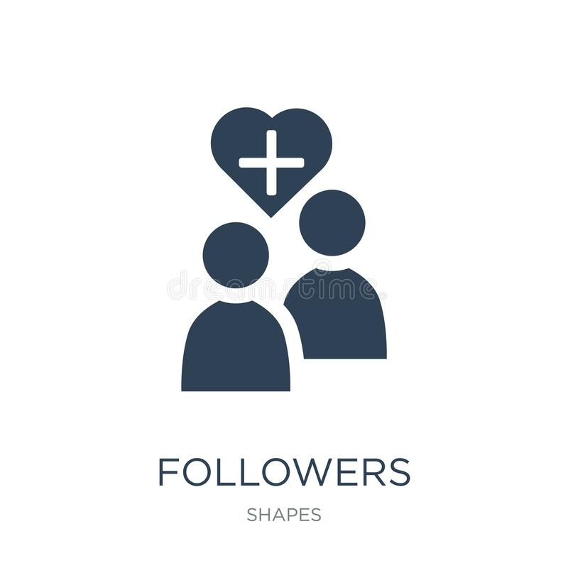 Followers icon in trendy design style. followers icon isolated on white background. followers vector icon simple and modern flat. Symbol for web site, mobile stock illustration