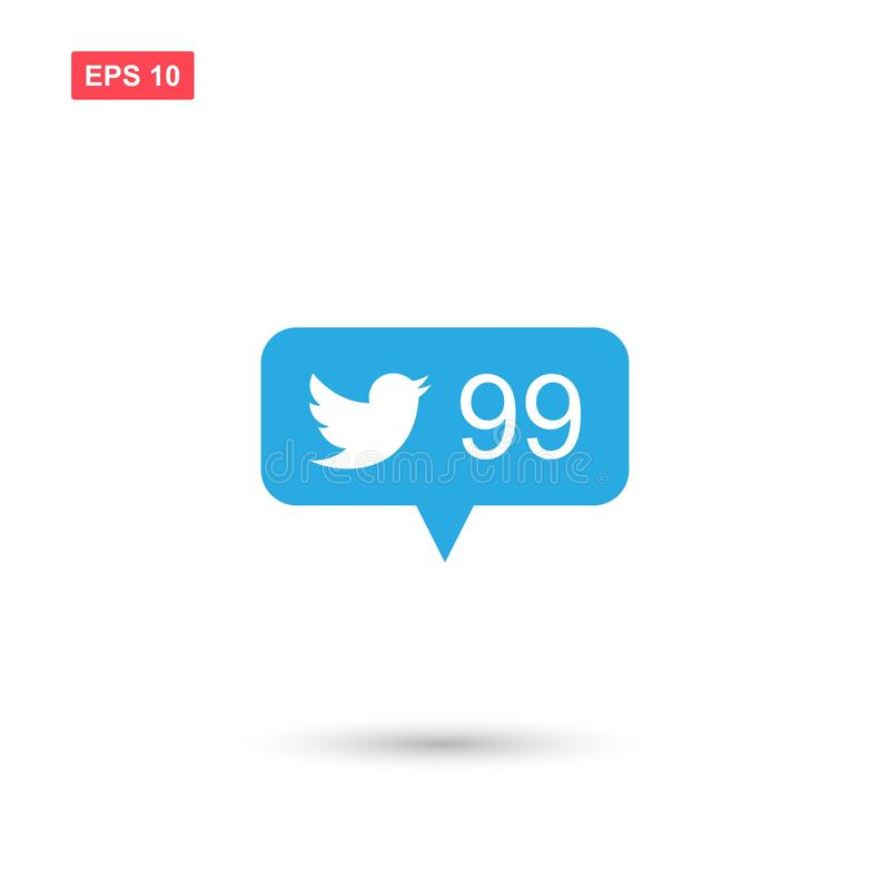 Followers notification icon for twitter royalty free illustration