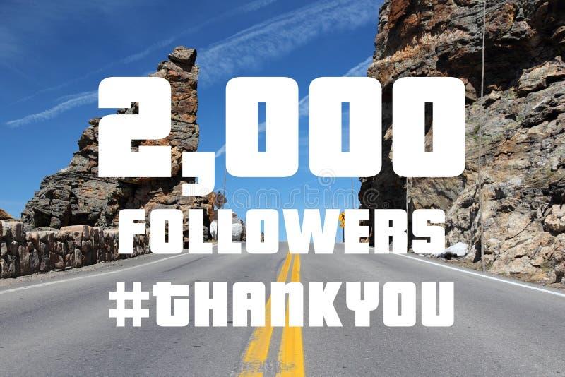 2000 followers stock image