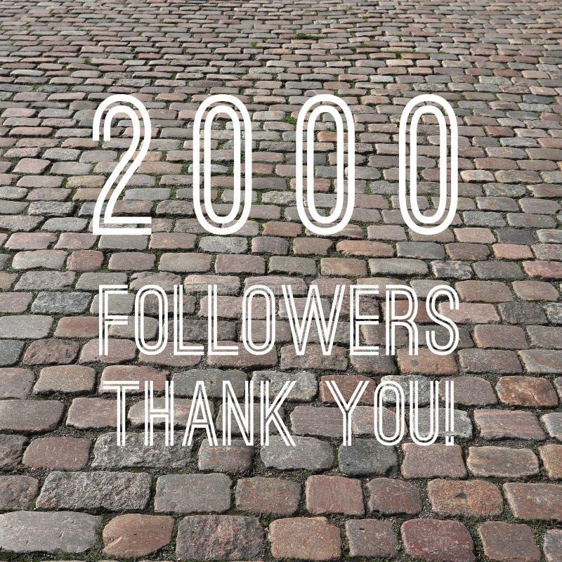 2000 followers stock photo