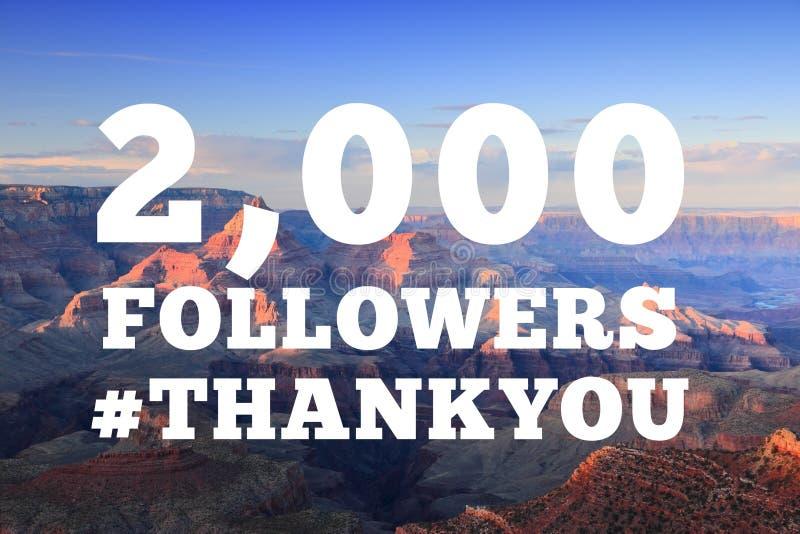 2000 followers sign stock photo