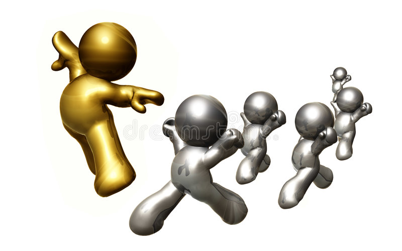 Following the leader to reach success royalty free stock image