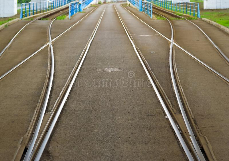 The right tracks royalty free stock photography