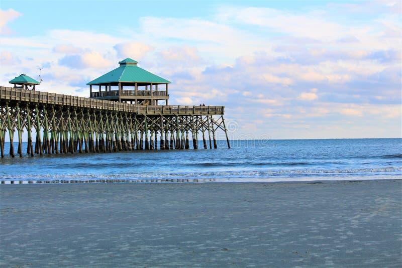 Folly Beach Charleston stock images