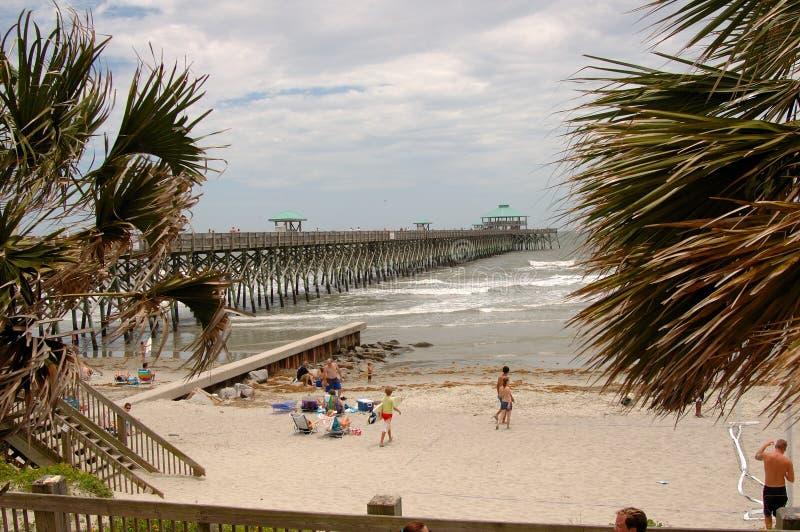 Folly Beach at Charleston, SC stock images