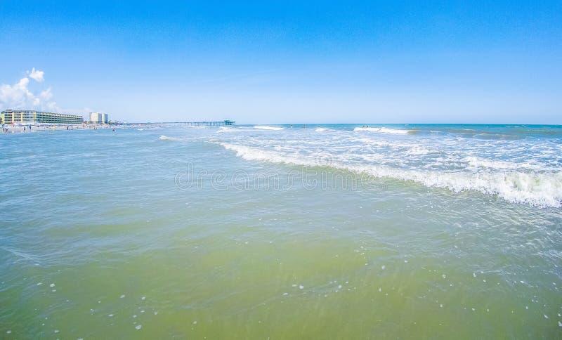 Folly beach charleston south carolina on atlantic ocean. Folly beach charleston south  carolina on atlantic ocean royalty free stock photos