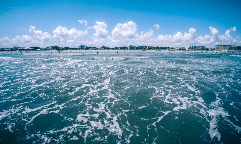 Folly beach charleston south carolina on atlantic ocean. Folly beach charleston south carolina on  atlantic ocean stock images