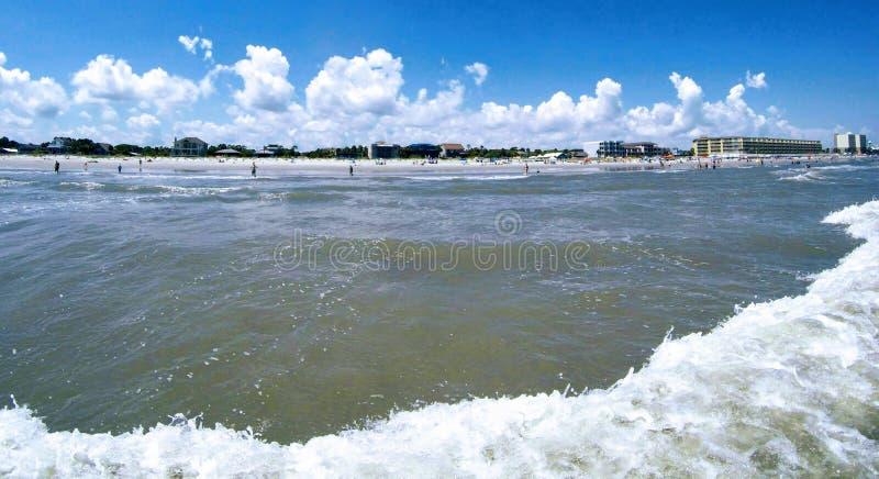 Folly beach charleston south carolina on atlantic ocean. Folly beach charleston south carolina on  atlantic ocean royalty free stock photography