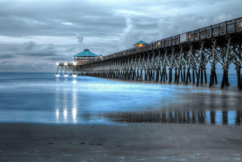 Folly Beach Pier stock image