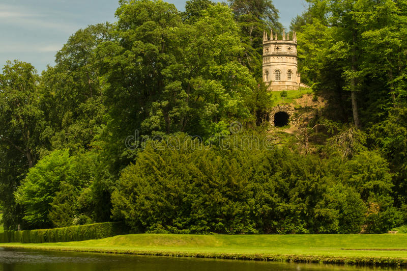 Folly. The temple of fame folly at royal studley water gardens royalty free stock image