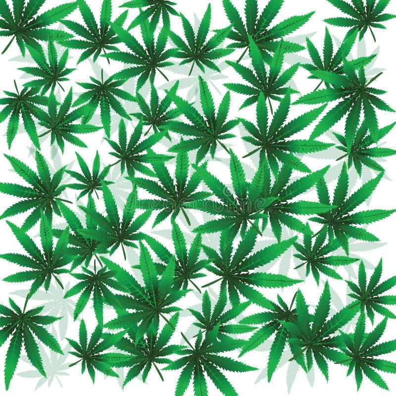 Foloaje da marijuana ilustração do vetor