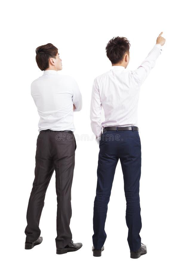 Folował długość biznesmen dwa fotografia stock