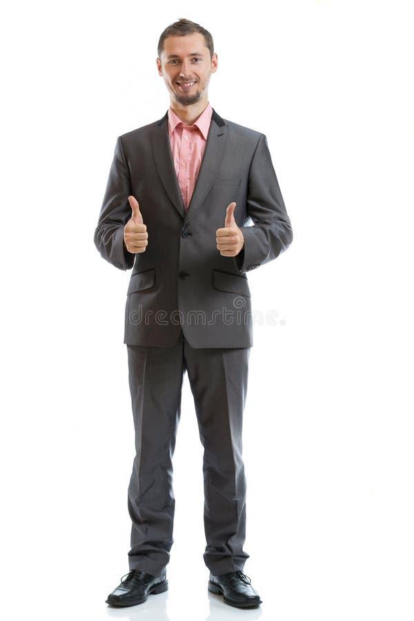 Folował długości kostiumu krawata biznesmena zdjęcia stock