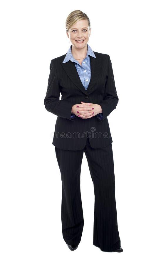 Folował długości portret bizneswoman zdjęcia stock