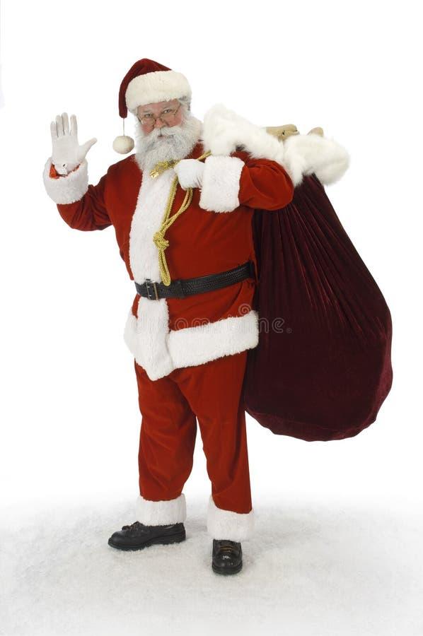 folował Santa falowanie obrazy royalty free