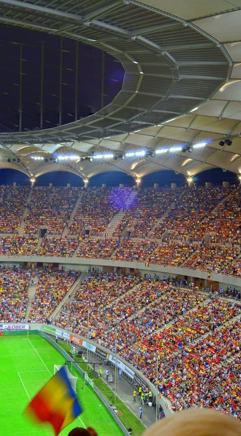 Folował stadium piłkarski - w Bucharest Krajowa Arena obraz stock