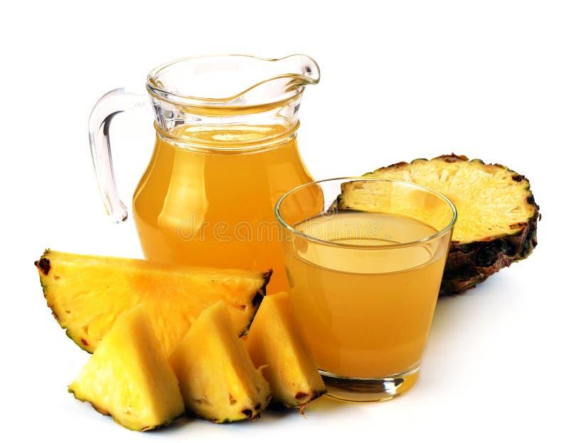 folował szklanego dzbanka soku ananasa obrazy stock