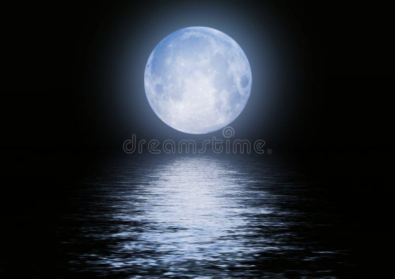 folował wizerunku księżyc wodę fotografia stock