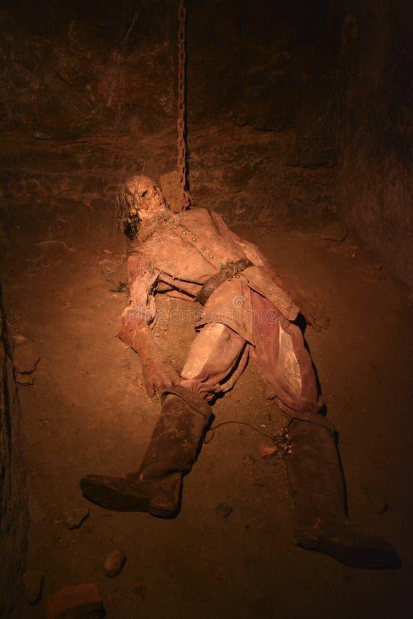 Folterung Untertage stockbild