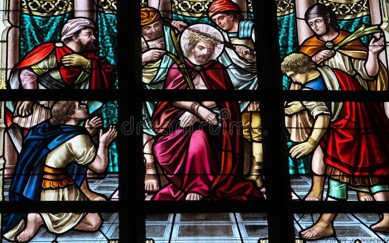 Folterung von Jesus stockbild